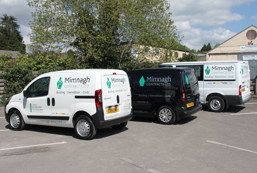 Mimnagh Contracts Ltd Vans