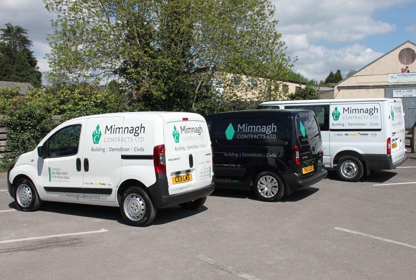 Mimnagh Contracts Ltd Vans